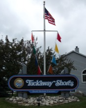 Picture of S Entrance Sign/Flags